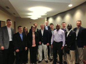 CRMER fellows, Dr. Schroeder, and Dr. Harris with Dhamu Thamodaran and Tim Schellpeper of Smithfield Foods