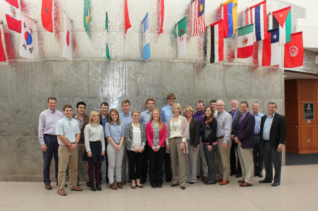 Student fellows met the CRMER's Advisory Council on April 4th, 2014