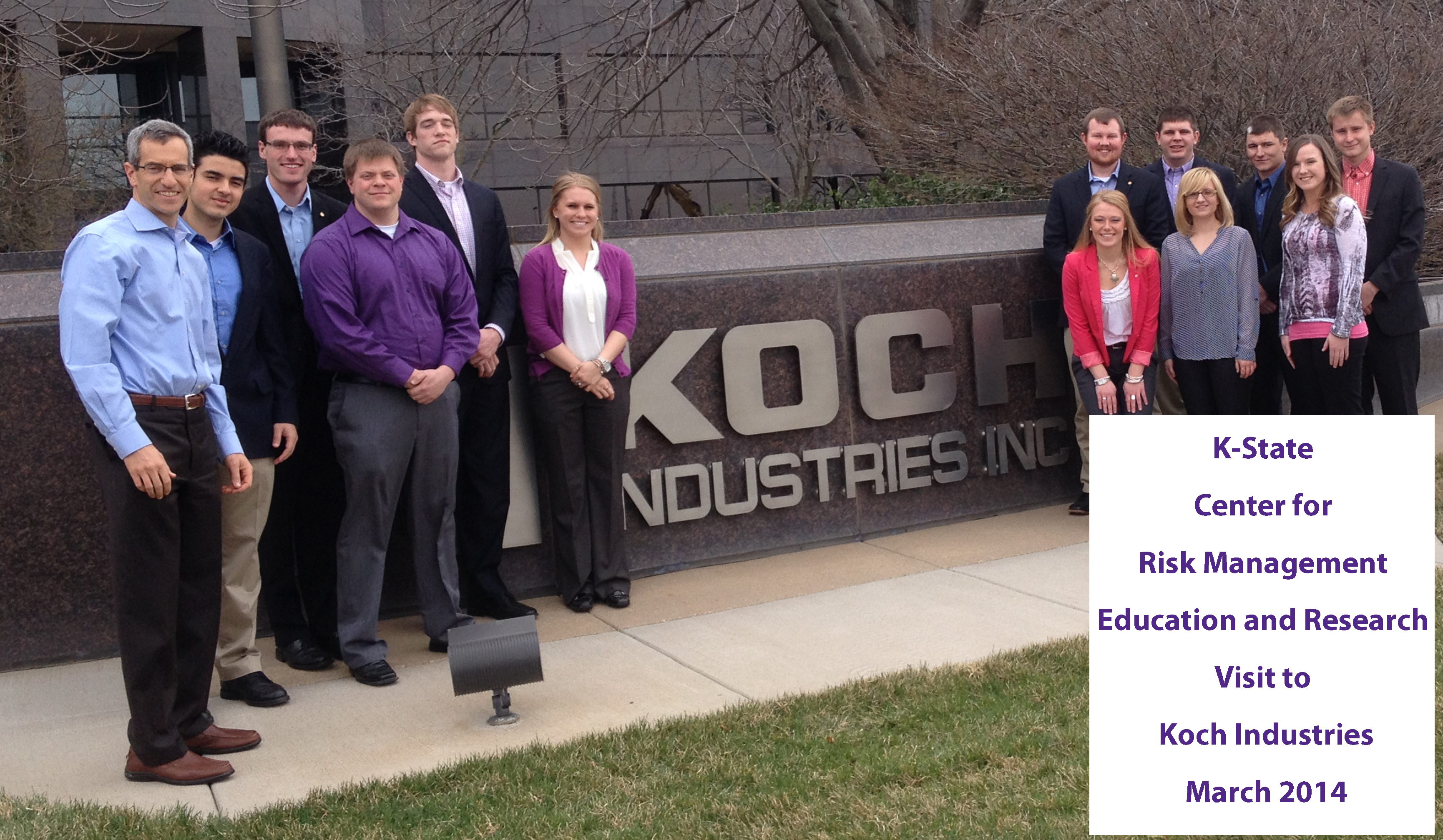 Crmer students visit koch industries inc risk for Koch industries