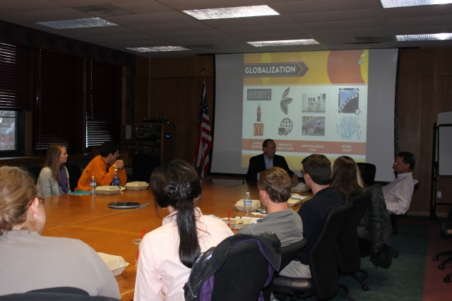 CRMER students engage in discussion with Bob Goodpaster about consumer trends